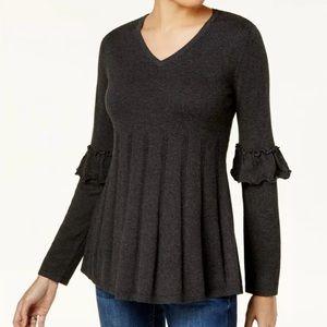 Style & Co Ruffle Pleated Sweater NWT